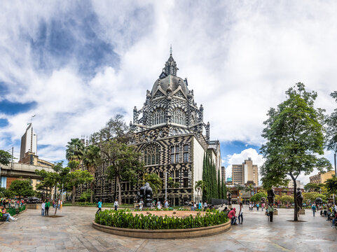 Botero Square and Palace of Culture - Medellin, Antioquia, Colombia