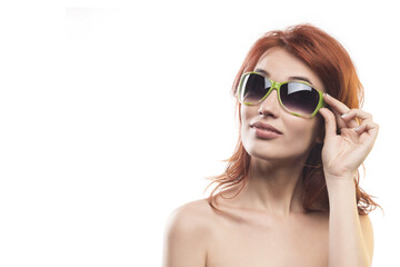 the redhead girl in sunglasses type 2