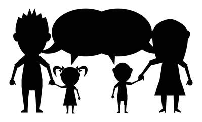 talking dolls family black icon vector