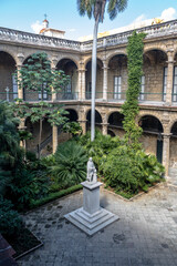 Courtyard of Palacio de los Capitanes Generales (Governor Palace) and City Museum on Plaza de Armas square - Havana, Cuba