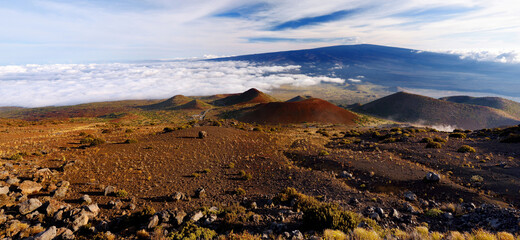 Breathtaking view of Mauna Loa volcano on the Big Island of Hawaii.