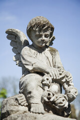 Guardian angel statue as a symbol of strength, truth and faith.