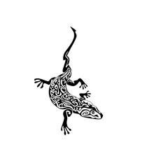 Abstract decorative lizard tattoo