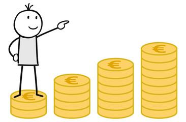 Figur auf Spart Geld