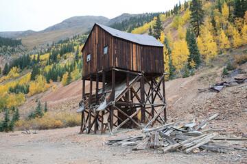 Colorado Autumn Scenery - Mining Ghost Town