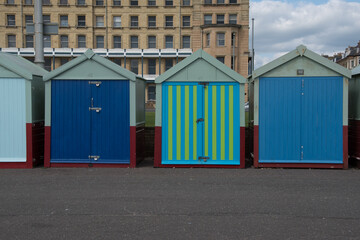 Beach huts from Brighton