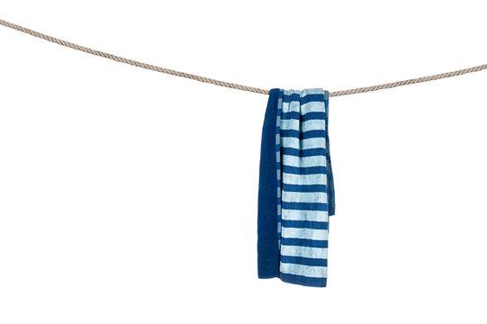 Beach towel on rope