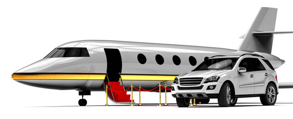 High class travel fleet / 3D render image representing a high class travel fleet