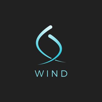 Wind logo vector illustration. Creative abstract wind logo concept symbol
