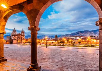 Plaza de Armas early in morning,Cusco, Peru