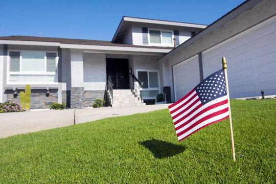 Flag in yard