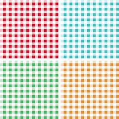 Checkered tablecloth seamless pattern. Kitchen design