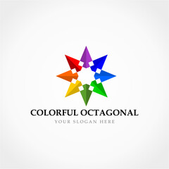 Colorful Octagonal Logo