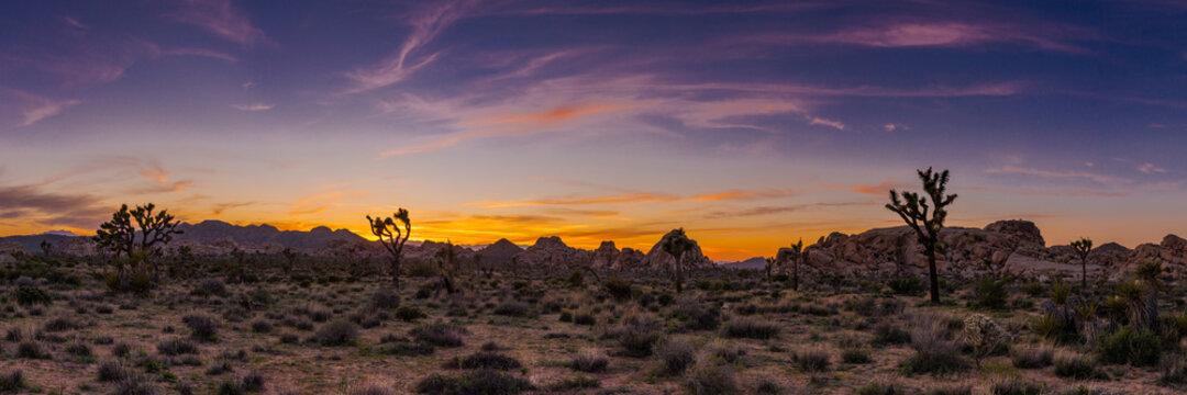 Wispy sunset over Hidden Valley