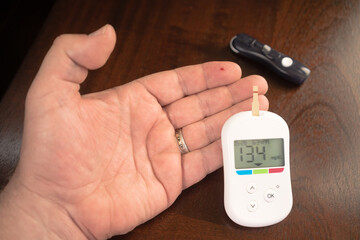Digital Blood Sugar Glucose Tester Diabetic Fingertip Test