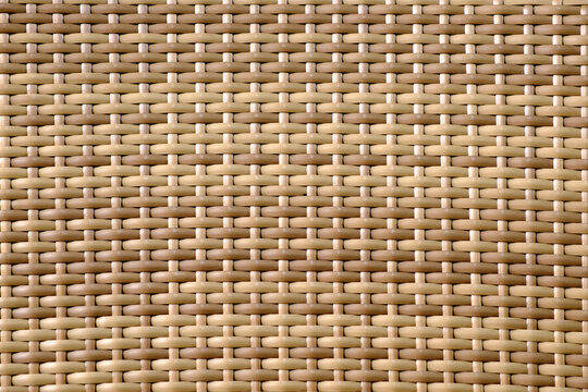 close up of rattan pattern background texture