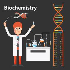 Biochemistry scientist genetic