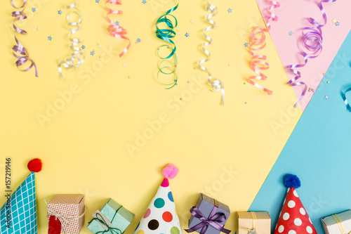 Party Theme On A Bright Background