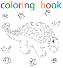 book coloring dinosaur cartoon