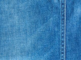 Texture and seam of denim fabric