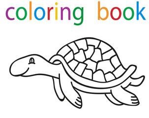 book coloring cartoon turtle