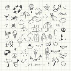 Summertime doodle set