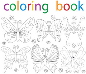 butterfly coloring book just a character