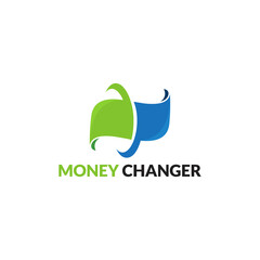 Modern Money Changer logo template designs, Vector Illustration