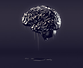 Brain made of oil