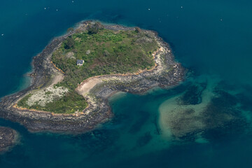 Vue aérienne de l'île Quelmer - 35