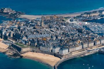 Vue aérienne de Saint Malo en France