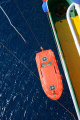 lifeboat of roro vessel