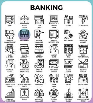 Banking concept icons
