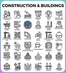 Construction & Buildings icons