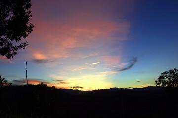 Beautiful sunrise landscape.