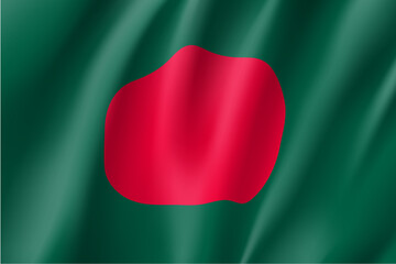 Bangladesh national flag. Patriotic symbol in official country colors. Illustration of Asian state flag. Vector icon