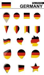 Germany Flag Collection. Big set for design.