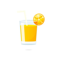 Orange juice vector isolated illustration