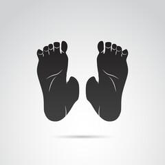 Human leg, foot vector icon.