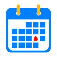 Icono plano calendario dia menstruacion