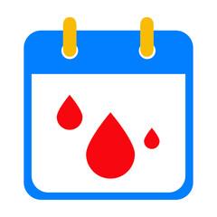 Icono plano calendario menstruacion