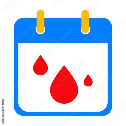 Calendario Vector.Icono Plano Calendario Menstruacion Stock Image And Royalty Free