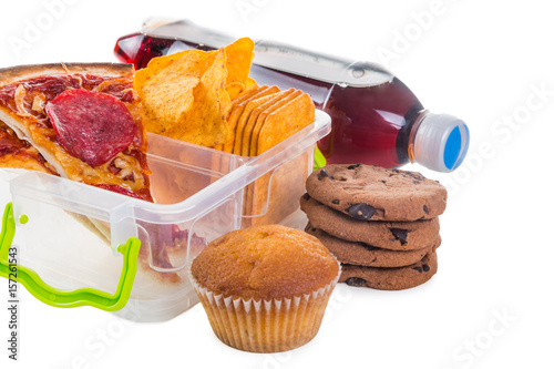 Unhealthy School Lunch Stock Photo And Royalty Free Images On