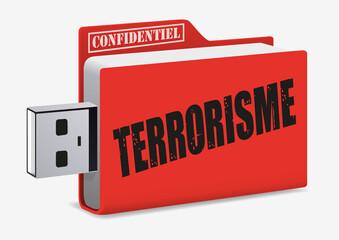 terrorisme - confidentiel - USB - extrémisme - intégrisme - attentat - guerre
