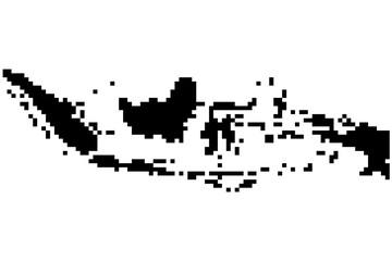 Точечная карта Индонезии. Черно-белая векторная иллюстрация.
