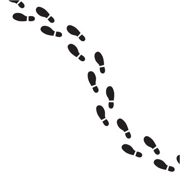 Footprint vector illustration.