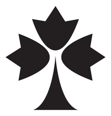 Maple leaf icon silhouette