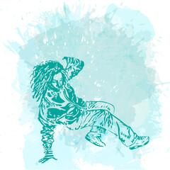 Girl street dancer.