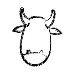 cute cow manger character image vector illustration