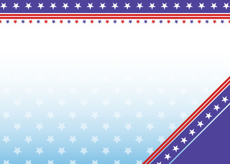 American Patriotic background in USA flag colors